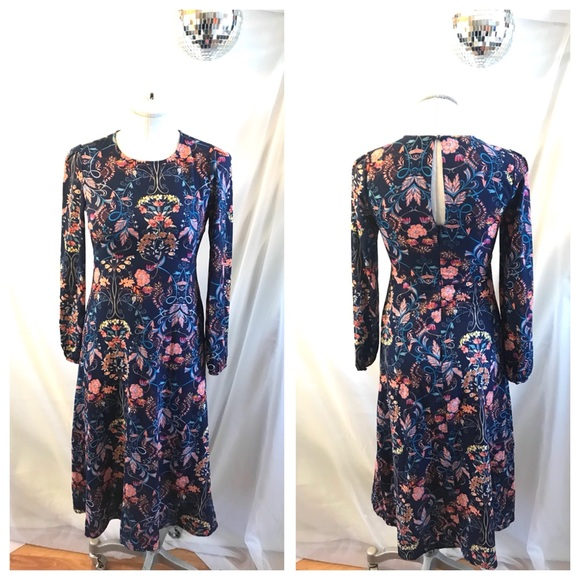 39a6280a03 Lulu's Dresses | I Madeline Lulus Garden Splendor Floral Midi Dress ...